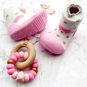 Giầy tập đi Attipas Ballet - giày tập đi cho bé gái - giày cho bé gái 1 tuổi, giầy xinh cho bé gái