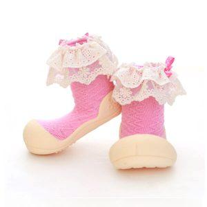 Giầy tập đi Attipas Lady Pink AW02 - giầy xinh cho bé gái tphcm - giầy bé gái 1 tuổi