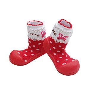 Giầy tập đi Attipas Love Red AL01 - giày bé gái 1 tuổi - giầy chức năng tập đi cho bé gái