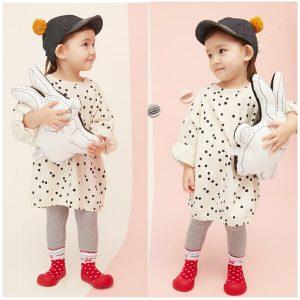 Giầy tập đi Attipas Love Red AL01 - giầy bé gái 1 tuổi tphcm - Giầy xinh cho bé gái tập đi