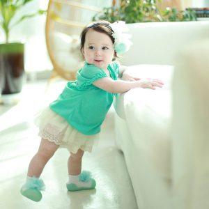 Giầy tập đi Attipas New Corsage - Giầy cho bé gái 1 tuổi - Giầy tất Hàn Quốc, giầy xinh cho bé gái