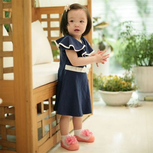 Giầy tập đi Attipas New Corsage - Giầy xinh cho bé gái 1 tuổi - Giầy cho bé gái tập đi,