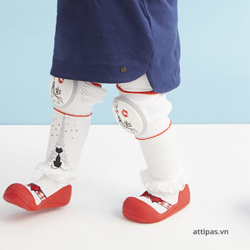 Giầy tập đi attipas ballet red - giầy xinh cho bé gái 1 tuổi, giầy xinh cho bé gái 2 tuổi