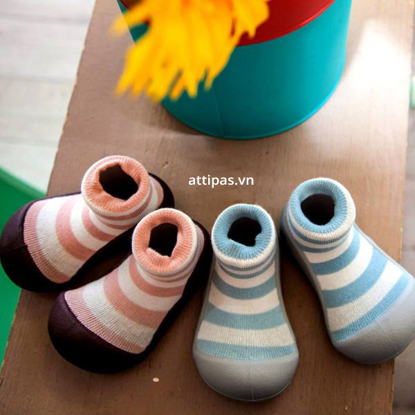 Giầy tập đi atttipas Natural Herb 2Tone - giầy xinh cho bé trai 1 tuổi, giầy xinh cho bé gái 1 tuổi