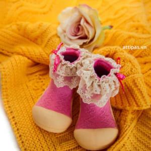 Giầy tập đi Attipas Lady Pink - giầy xinh cho bé gái 1 tuổi, giầy xinh cho bé gái 2 tuổi