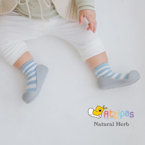 Giầy tập đi Attipas Natural Herb Blue - giầy xinh cho bé trai 1 tuổi, giầy xinh cho bé gái 1 tuổi