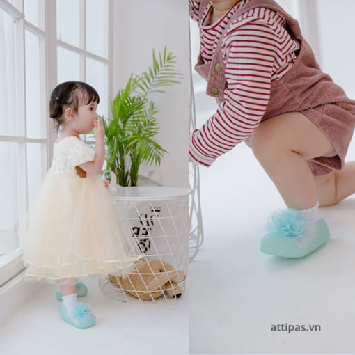Giầy tập đi Attipas New Corsage - giầy xinh cho bé gái 1 tuổi, giầy xinh cho bé gái 3 tuổi
