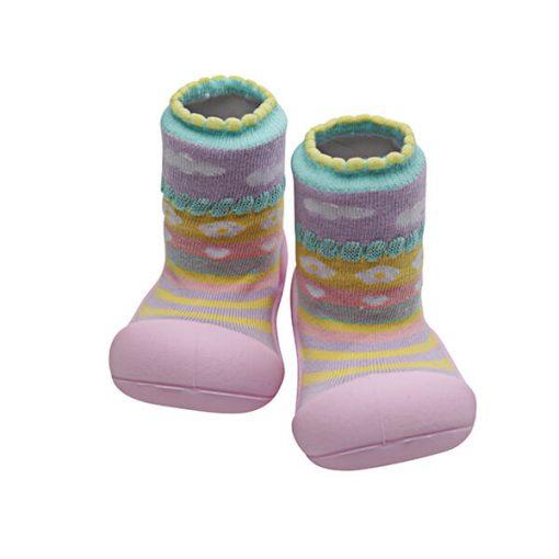 Giầy tập đi Attipas Attibebe Pink AAB01 - giày cho bé 6 tháng tuổi - giày xinh cho bé gái - giầy xinh bé gái 1 tuổi