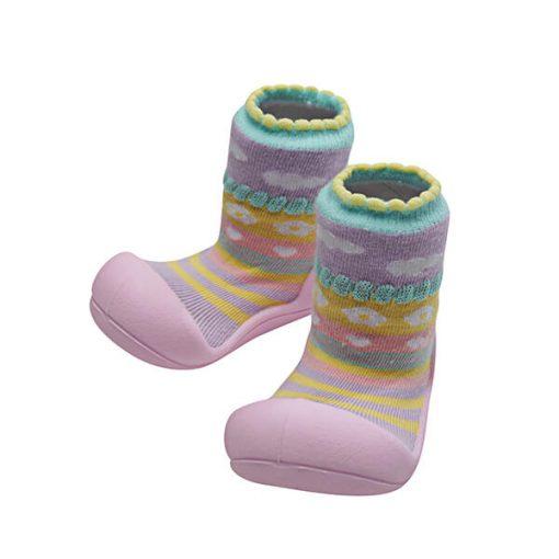 Giầy tập đi Attipas Attibebe Pink AAB01 - giày cho bé 6 tháng tuổi - giày xinh cho bé gái - giày xinh cho bé gái 6 tháng