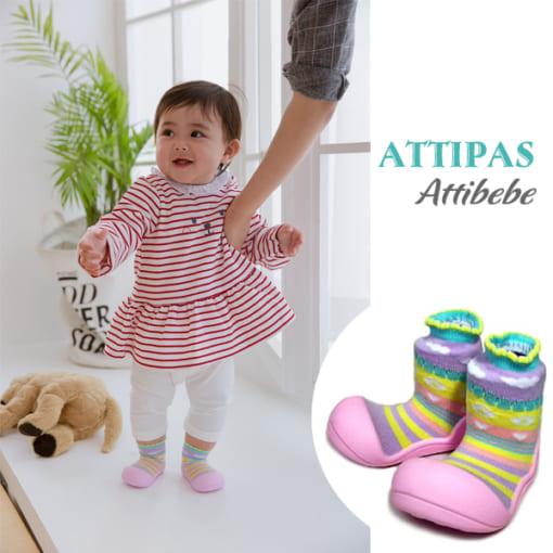 Giầy tập đi Attipas Attibebe - giầy xinh cho bé gái - giầy bé gái tập đi, giầy xinh bé gái