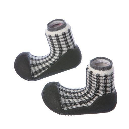 Giầy tập đi Attipas Chess A18C-Black - giày xinh cho bé yêu - giày cho bé tập đi