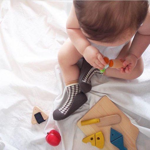 Giầy tập đi Attipas Chess A18CB-Brown - giầy chức năng tập đi - giầy cho bé tập đi