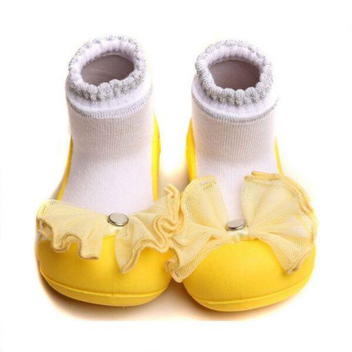 Giầy tập đi Attipas Crystal Yellow AQ03 -giầy bé gái tập đi, giầy búp bê cho bé gái 2 tuổi