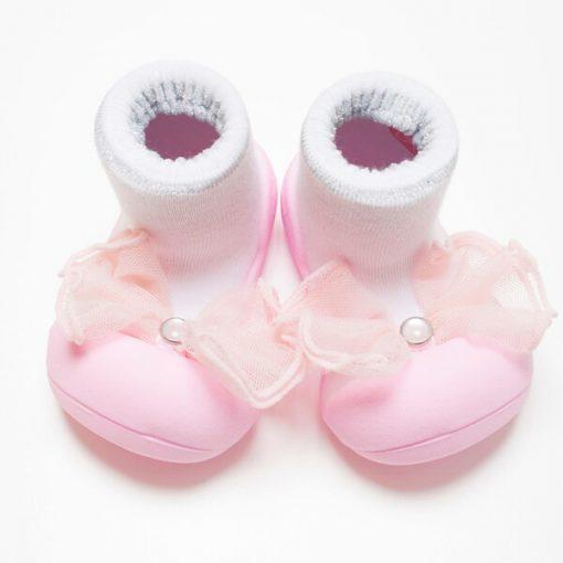 Giầy tập đi Attipas Crystal Pink AQ01 - giày xinh cho bé gái - giày trẻ em tập đi