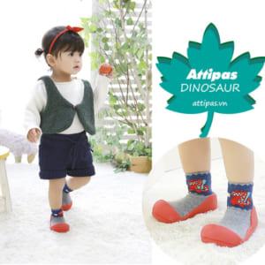 Giầy tập đi Attipas Dinosaur - giầy xinh cho bé gái - Giầy tập đi cho bé gái