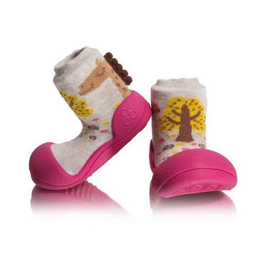 Giầy chức năng tập đi Attipas Giraffe Fuchsia A18G - giày xinh cho bé gái - giầy bé gái tập đi