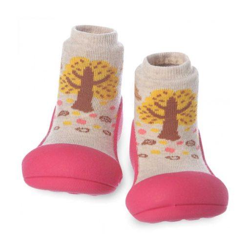 Giầy chức năng tập đi Attipas Giraffe Fuchsia A18G - giày tập đi cho bé gái 2 tuổi