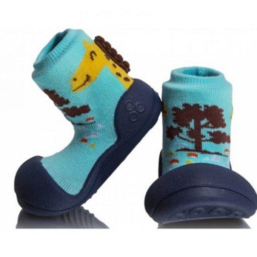 Giầy chức năng tập đi Attipas Giraffe Navy A18G - giày xinh cho bé trai - giày tập đi cho bé trai 1 tuổi
