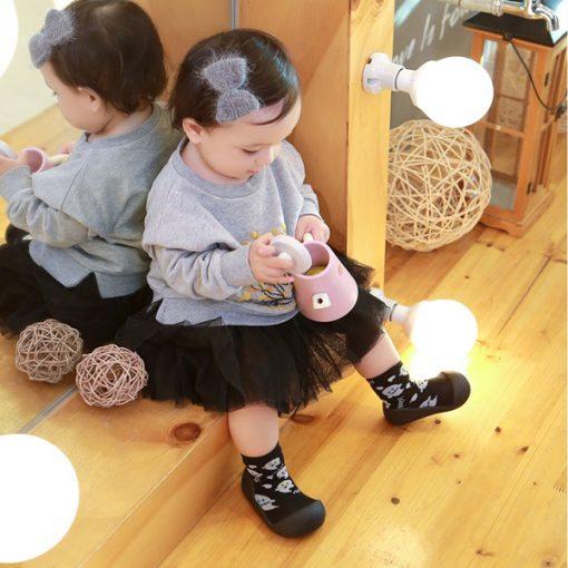 Giầy chức năng tập đi Attipas Halloween A18H-Black - giầy xinh cho bé gái - giầy tập đi