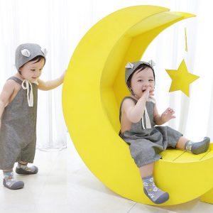 Giầy chức năng tập đi Attipas Halloween A18HG-Gray - giầy tập đi cho bé gái