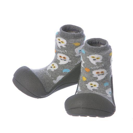 Giầy chức năng tập đi Attipas Halloween A18HG-Gray - giầy tập đi attipas - giầy tập đi cho bé 11 tháng