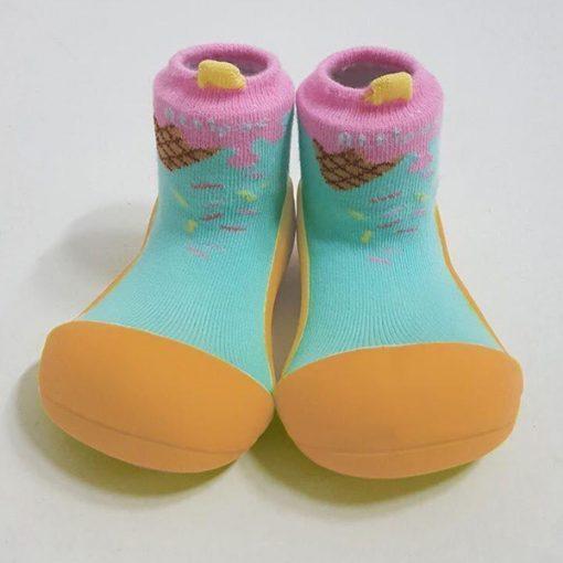 Giầy chức năng tập đi Attipas Ice Cream Mustard A18IM - giầy xinh cho bé gái