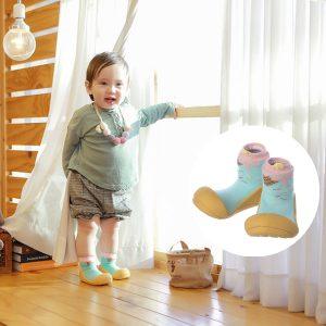 Giầy chức năng tập đi Attipas Ice Cream Mustard A18IM - giầy xinh cho bé gái, giầy bé gái 1 tuổi