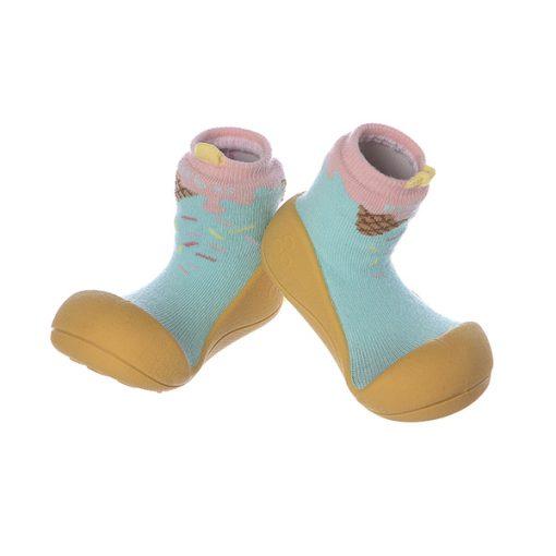 Giầy chức năng tập đi Attipas Ice Cream Mustard A18IM - giầy tập đi - giầy bé gái tập đi