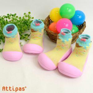 Giầy chức năng tập đi Attipas Ice Cream Pink A18I - giầy xinh cho bé gái - giày tập đi cho bé gái