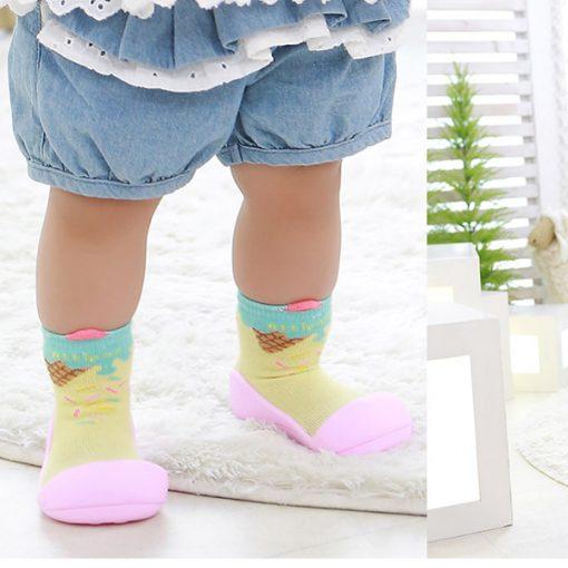 Giầy chức năng tập đi Attipas Ice Cream Pink A18I - giầy xinh cho bé gái - giầy tập đi cho bé gái