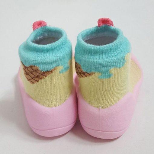 Giầy chức năng tập đi Attipas Ice Cream Pink A18I - giầy xinh cho bé gái - giày bé gái 1 tuổi đẹp