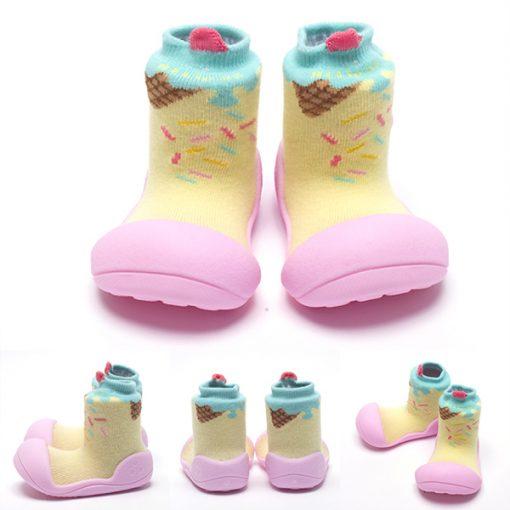 Giầy chức năng tập đi Attipas Ice Cream Pink A18I - giầy trẻ em cao cấp - giầy bé gái 1 tuổi đẹp