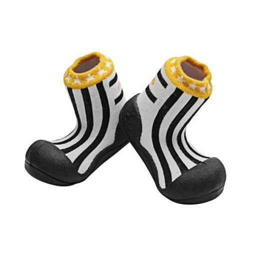 Giầy tập đi Attipas Little Star Black ALS02 - giày cho bé trai 1 tuổi - giầy thể thao trẻ em nam