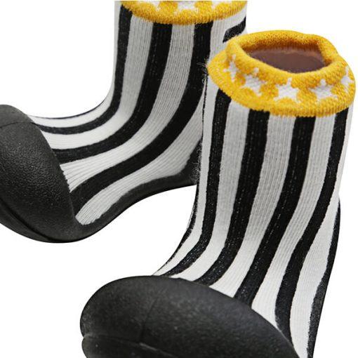 Giầy tập đi Attipas Little Star Black ALS02 - giày cho bé gái 2 tuổi - giầy thể thao trẻ em hàng hiệu