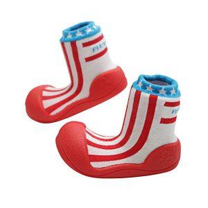 Giầy tập đi Attipas Little Star Red ALS01 - giầy xinh cho bé trai - giầy trẻ em cao cấp