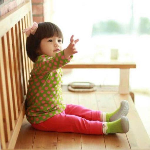 Giầy tập đi Attipas Lollipop Green AP03 - giày cho bé tập đi tphcm - giày bé gái tập đi