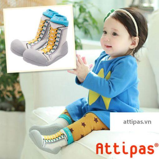Giầy tập đi Attipas New Sneakers Sky AZ03 - giầy thể thao bé gái - giầy bé gái tập đi