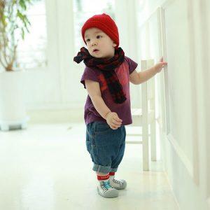 Giầy tập đi Attipas New Sneakers Red AZ02 - giầy thể thao cho bé tập đi - giày thể thao cho bé trai 2 tuổi