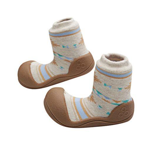 Giầy tập đi Attipas Nordic Brown AND01 - giày tập đi đế cao su - giầy trẻ em tập đi