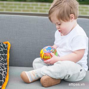 Giầy tập đi Attipas Nordic Brown AND01 - Giày xinh cho bé trai - giày bé trai tập đi