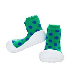 Giầy tập đi Attipas Polka Dot Green AD02 - Giầy bé trai tập đi - giầy xinh cho bé trai 1 tuổi