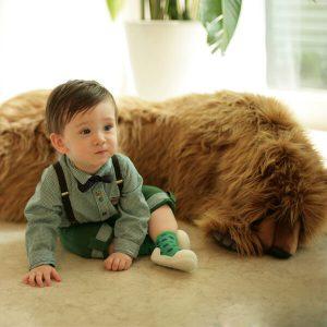 Giầy tập đi Attipas Polka Dot Green AD02 - Giầy bé trai tập đi - giầy cho bé trai 1 tuổi