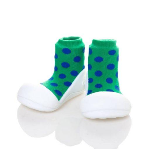 Giầy tập đi Attipas Polka Dot Green AD02 - Giầy xinh cho bé gái 1 tuổi - giày cho bé gái dưới 1 tuổi