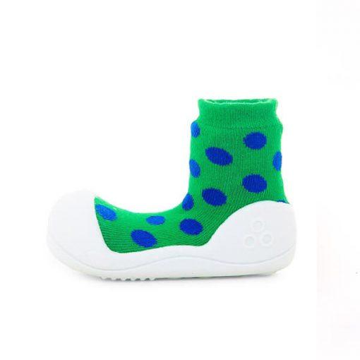 Giầy tập đi Attipas Polka Dot Green AD02 - Giầy trẻ em attipas.vn