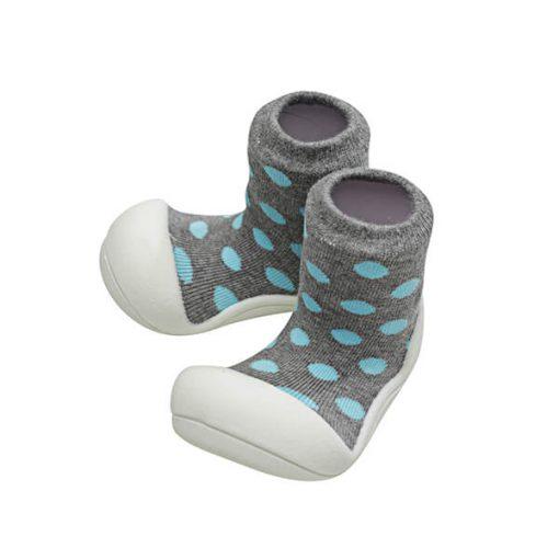 Giầy tập đi Attipas Polka Dot Gray AD05 - giày trẻ em hàng hiệu - Giầy bé trai 1 tuổi tập đi