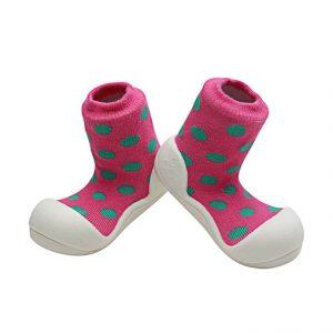 Giầy tập đi Attipas polka dot pink ad03 - giầy xinh cho bé gái - giầy bé gái tập đi