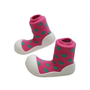 Giầy tập đi Attipas Polka Dot Pink AD03 - Giầy trẻ em cao cấp - Giày em bé 1 tuổi