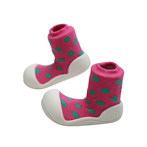 Giầy tập đi Attipas Polka Dot Pink AD03 - Giầy trẻ em cao cấp - Giầy xinh cho bé trai