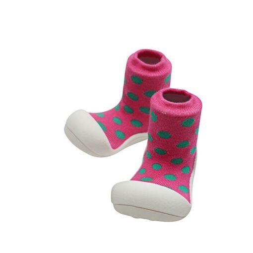 Giầy tập đi Attipas Polka Dot Pink AD03 - Giầy cho bé gái tập đi - giày xinh cho bé gái 1 tuổi