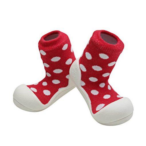 Giầy tập đi Attipas Polka Dot Red AD06 - Giầy trẻ em attipas.vn
